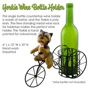 Yorkie on a Tricycle Wine Bottle Holder